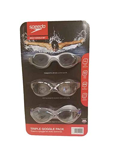 Speedo Triple Goggle Pack Adult Ages 15+