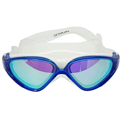 Palantic Adult Clear/Blue Swim Mask With UV Mirror Anti-Fog Coated Lenses
