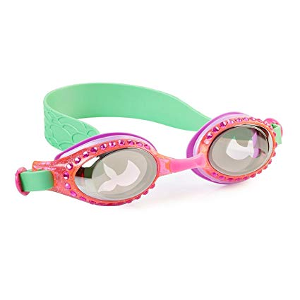 Mermaid Swimming Goggles For Kids by Bling2O - Anti Fog, No Leak, Non Slip and UV Protection - Fun Water Accessory Includes Hard Case