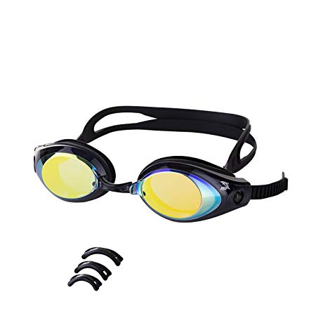 IST G39 Adult Swim Goggles with Anti-UV Polycarbonate Mirrored Lens