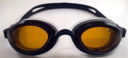Snake & Pig Basilisk Swimming Goggles, Comfortable Fit for Adult Men Women Youth Kids Children (Black, amber lens)